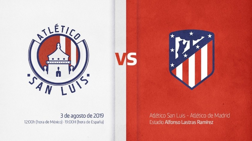 Atlético de Madrid disputará amistoso ante Atlético San Luis en México.(Twitter)