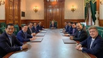 La reunión, a puerta cerrada, se realizó en Palacio Nacional.