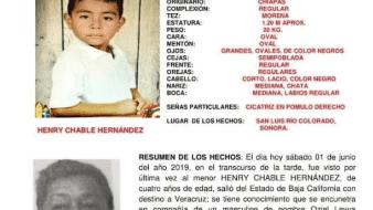 Activan alerta AMBER por desaparición de otro niño en SLRC