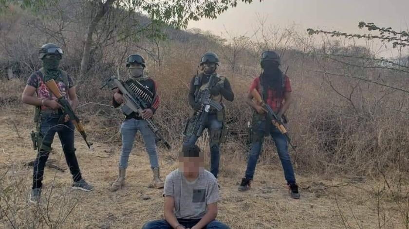 Cuauhtémoc Salgado Arroyo fue localizado en estado de descomposición y con marcas de impacto de bala.(Captura de video)