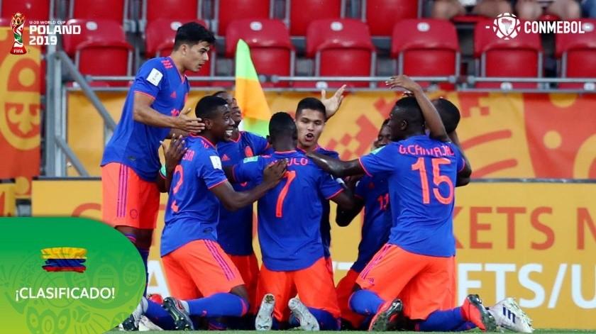 Colombia logró este domingo una agónica clasificación a cuartos de final del Mundial Sub-20 de Polonia al superar en los penales a su similar de Nueva Zelanda (5-4).(Twitter)