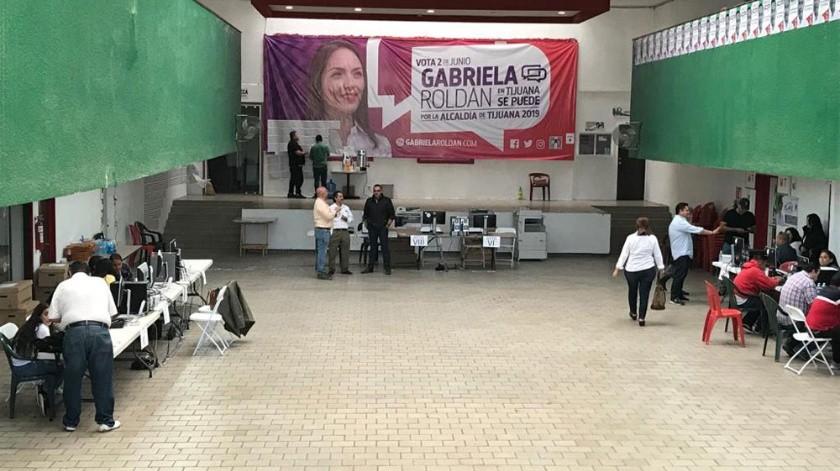 Así lucen las oficinas del PRI en Tijuana.(Khennia Reyes)