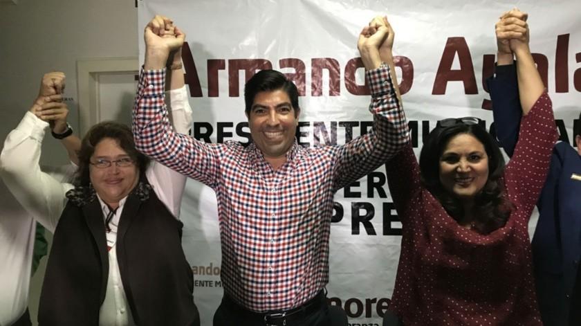 Armando Ayala ofreció una conferencia de prensa.(Jayme García)