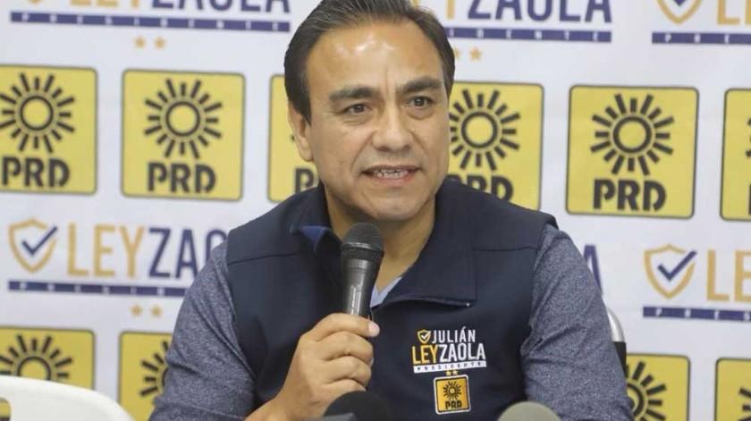 La tercera vez será la vencida para el teniente coronel Julián Leyzaola Pérez, expuso tras anunciar que buscará la Alcaldía de Tijuana de nueva cuenta en dos años.(Jesús Bustamante)