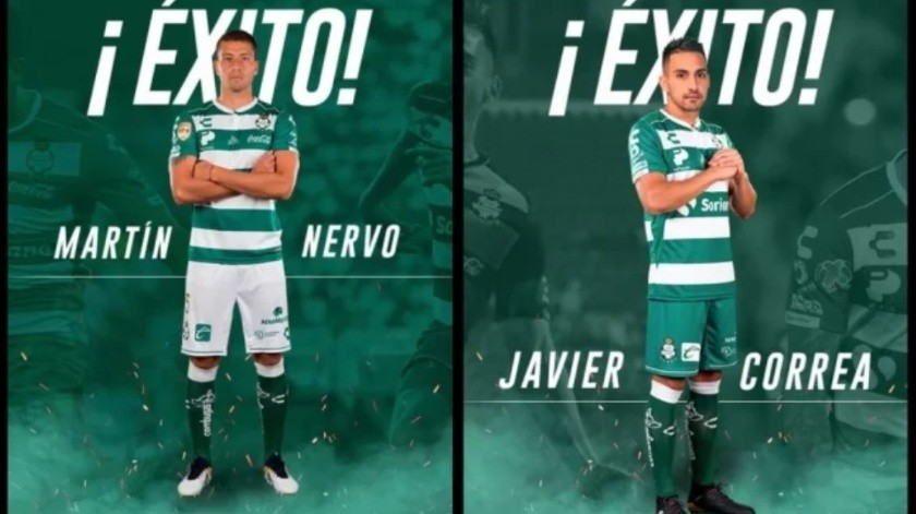 Nervo y Correa, nuevos ''Guerreros'' del Atlas(Twitter/ @ClubSantos)