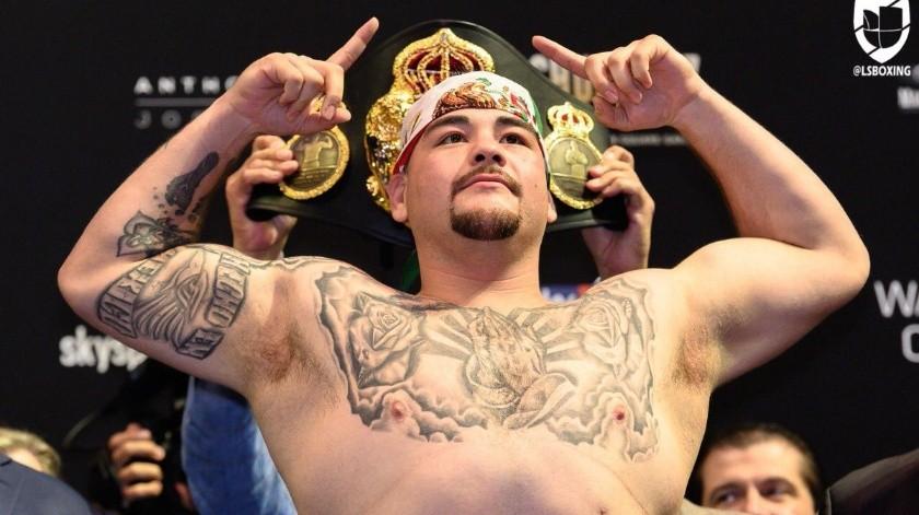 Andy Ruiz se convirtió recientemente en el campeón mundial de pesos pesados en el boxeo.(Twitter)