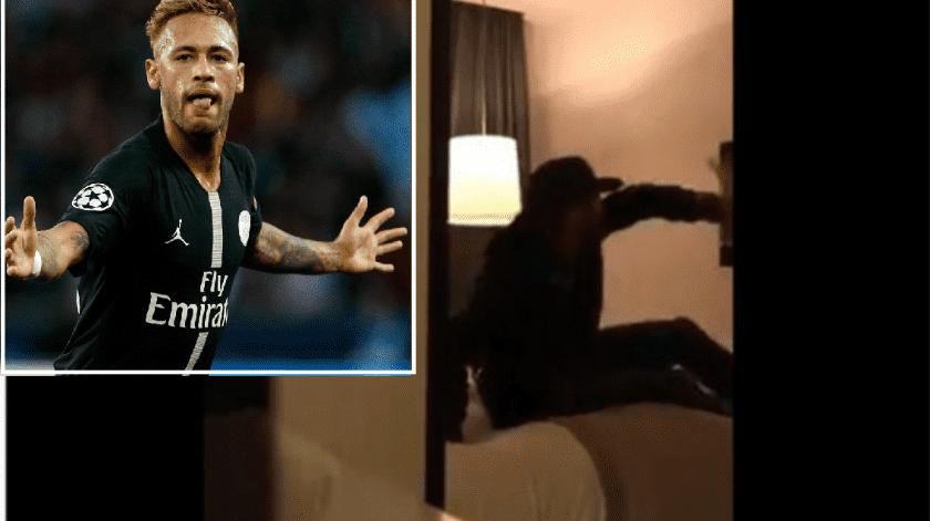 VIDEO: Filtran supuesta agresión de Neymar(Captura de video)
