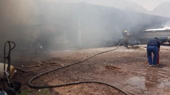 Explosión en taller de yates en el sector Bahía, en San Carlos Nuevo Guaymas.