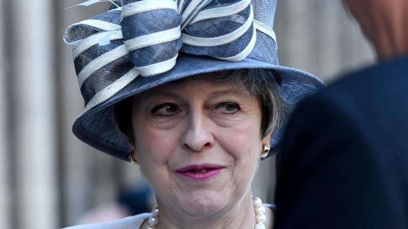 Theresa May(AFP or licensors, POOL)
