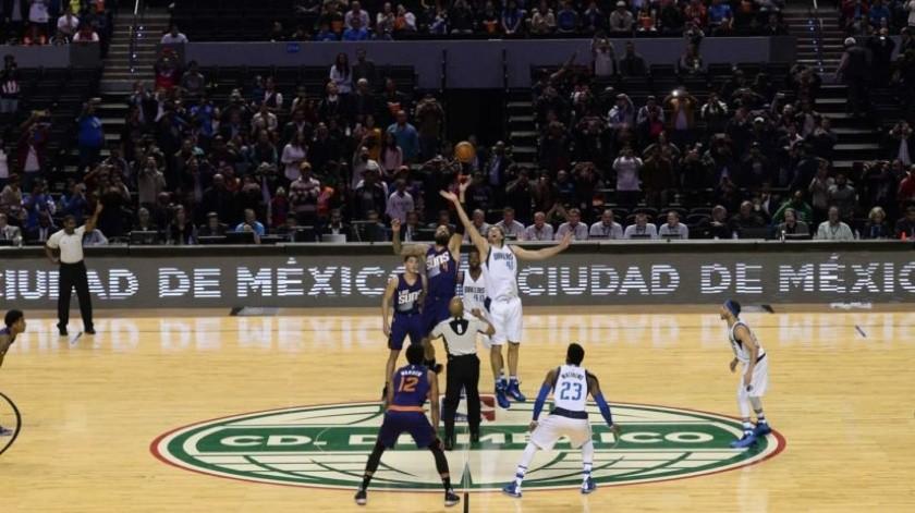 Anuncian dos partidos de NBA en México para 2019.(Twitter)