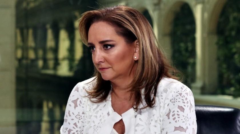 Claudia Ruiz Massieu, dirigente del PRI nacional.