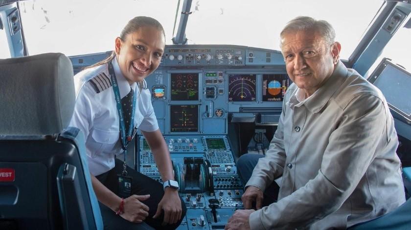 El presidente Andrés Manuel López Obrador aseguró que es el vuelo en el que se ha sentido más seguro.(Gobierno de México)
