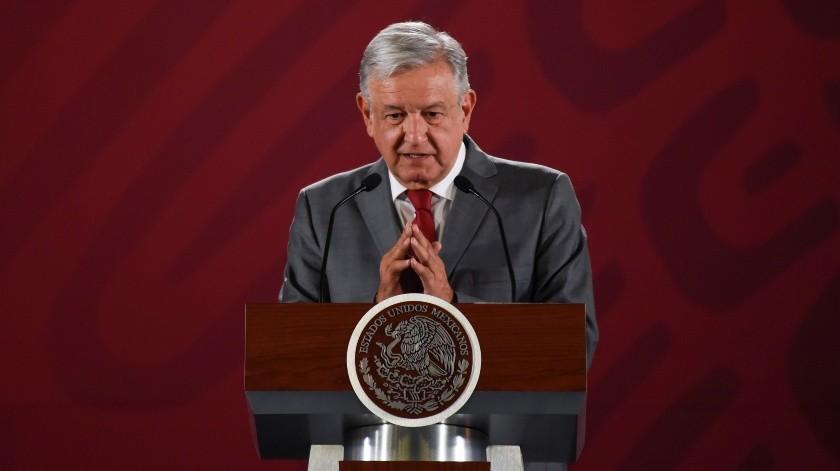 AMLO convocó inicialmente al evento por ''la amistad con EU y la dignidad de México''.(AFP)