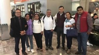 El grupo estuvo integrado por Pavel Meléndez, vicepresidente de la cámara y los diputados locales Leticia Collado, Griselda Sosa, Othón Cuevas, Luis Alfonso Silva Romo, Aracely López y Ángel Domínguez.