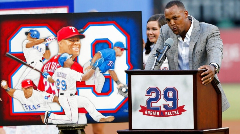 Retiran Rangers número de Adrián Beltré.(AP)