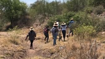 Guerreras Buscadoras realizan rastreo en Navojoa.