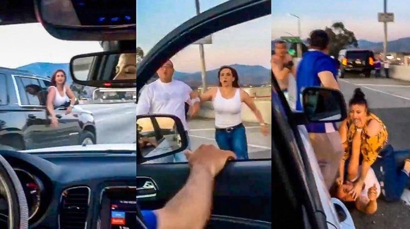 "Pareja llama ""frijoleros"" a latinos; reciben golpiza(Captura de video)"