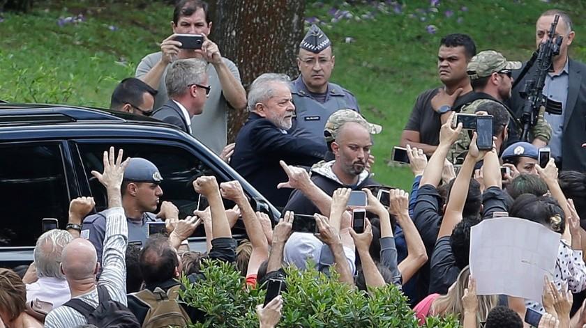 Lula, que purga por ese caso una pena de 8 años y 10 meses de cárcel, siempre se declaró inocente.(AP)