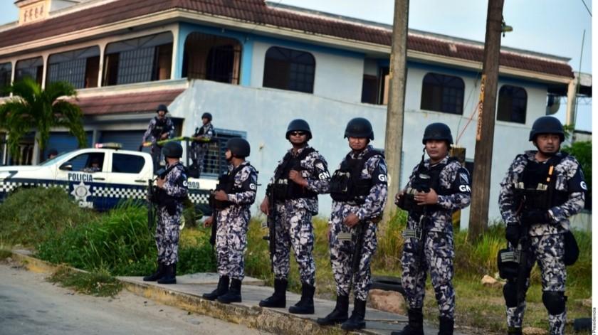 El gobierno federal prevé que para el próximo año el estado de fuerza de la Guardia Nacional se incremente a 97 mil 117 elementos.(Agencia Reforma)