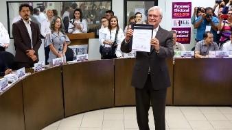 Recibe Bonilla constancia de gobernador electo del Estado