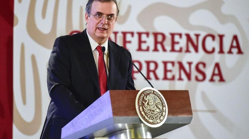 Marcelo Ebrard, titular de la Secretaría de Relaciones Exteriores.