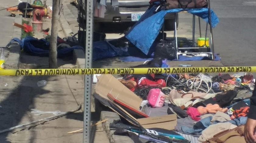 Los hechos ocurrieron en la esquina de las calles Miguel F. Martínez y Baja California.(Margarito Martínez)