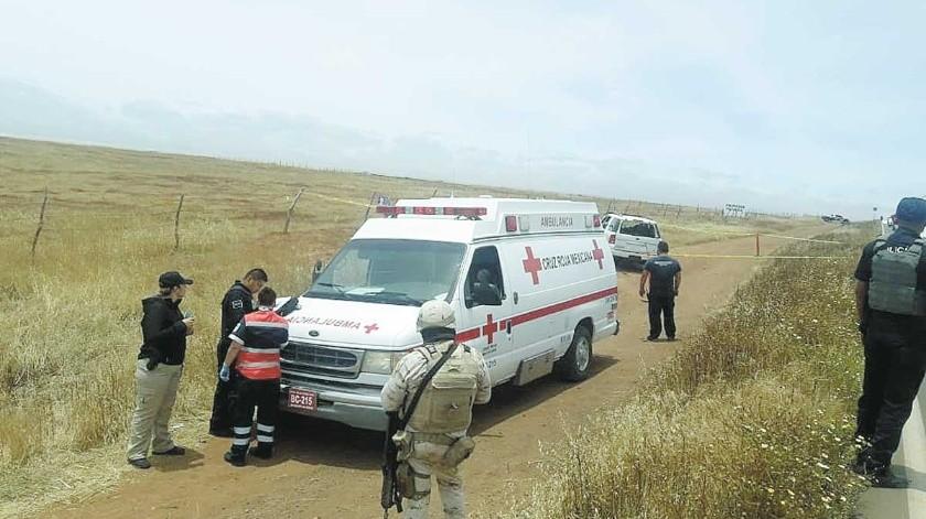 Paramédicos de la Cruz Roja atendieron el incidente.(Cortesía)