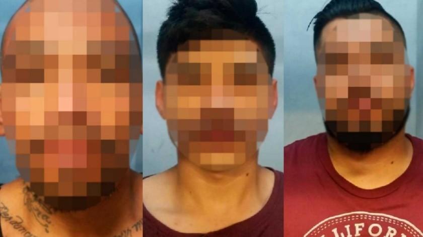 """Los detenidos están identificados como Adrián """"N"""", de 20 años; Cristián """"N"""", de 30 años y José """"N"""", de 32.(Cortesía)"""