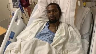 Se muestra Kevin Durant tras operación de tendón de aquiles