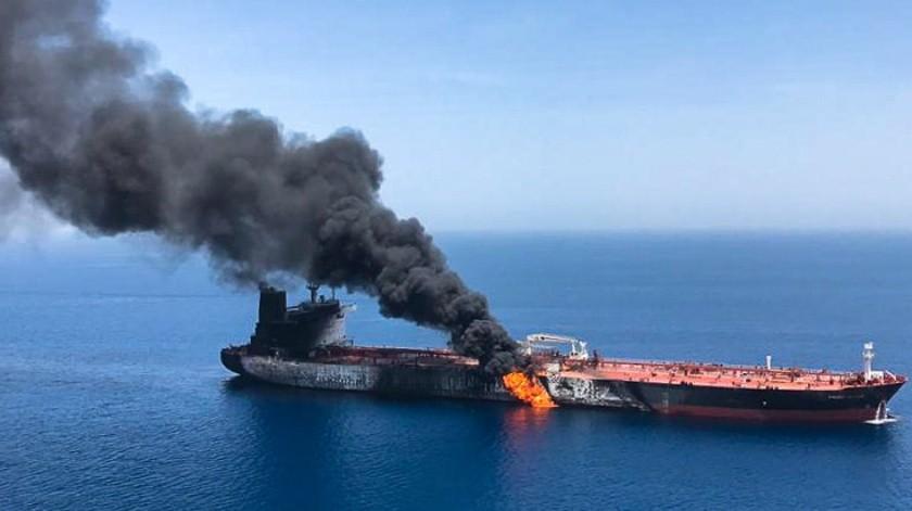 Los precios delpetróleorebotaban este jueves tras los ataques contra dos buques cisterna en el Golfo.(AFP)