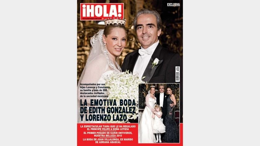 El 24 de septiembre de 2010 Edith González se casó con el empresario Lorenzo Lazo Margáin.(Agencia México)