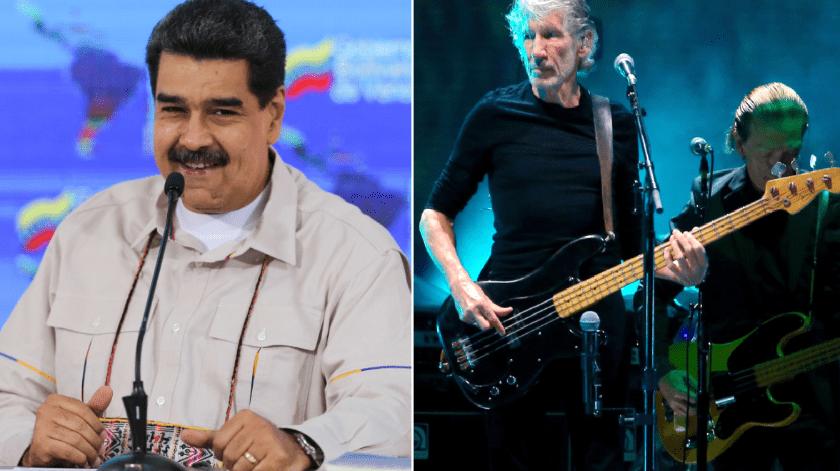 Maduro regala guitarra a Roger Waters por criticar a EU(AFP y AP)
