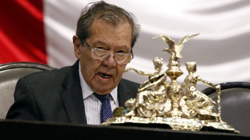 Porfirio Muñoz Ledo, presidente de la Cámara de Diputados.