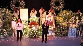 Pandora cantó en el funeral de Edith González, porque la actriz pidió que la despidieran con música.