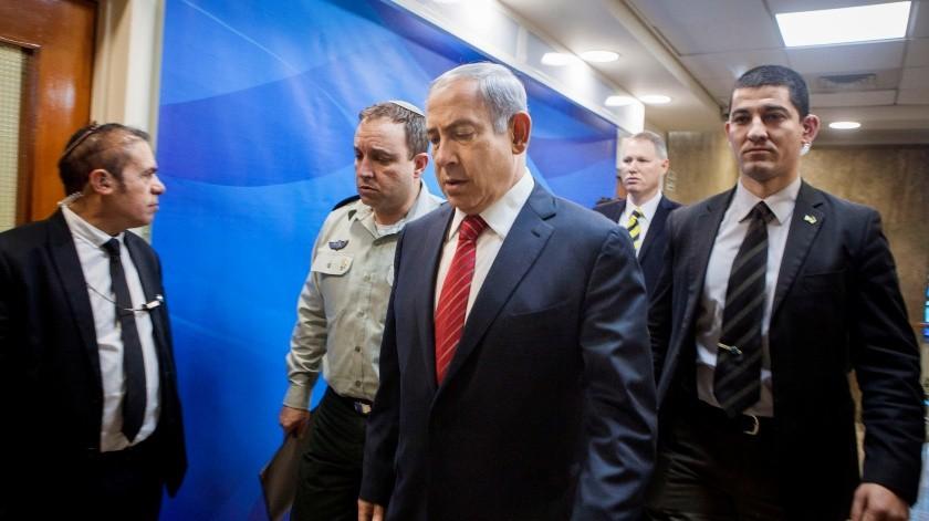 El primer ministro israelí, BenjaminNetanyahu, inauguró este domingo una nueva colonia en la parte de los Altos del Golán.(AP)