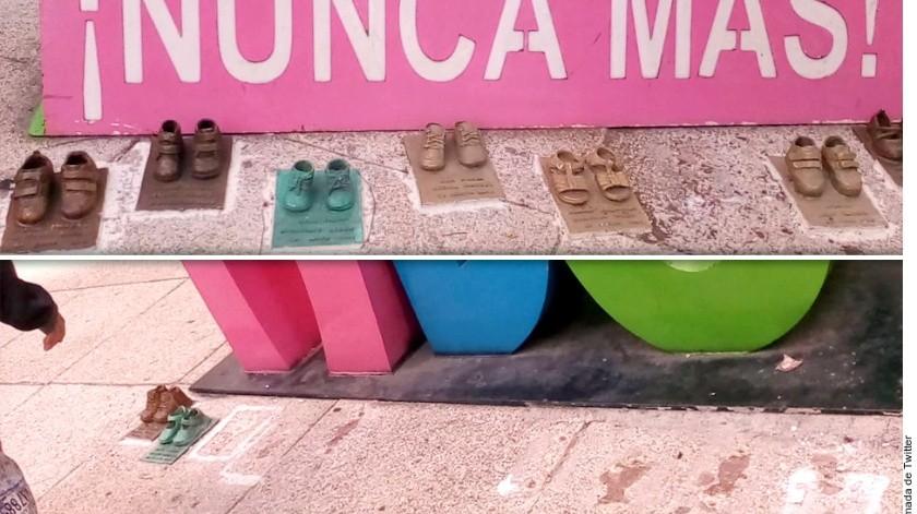 Márquez reprochó al Seguro Social que los vigilantes no vieran cuando los zapatos fueron arrancados. (Agencia Reforma)