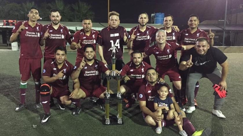 """Olivares FC, equipo campeón de la categoría Aficionados en el Torneo Fut 7 """"Club Hidalgo""""."""