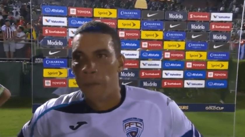 Deserta internacional cubano Yasmani López en la Copa Oro.(Captura de video)