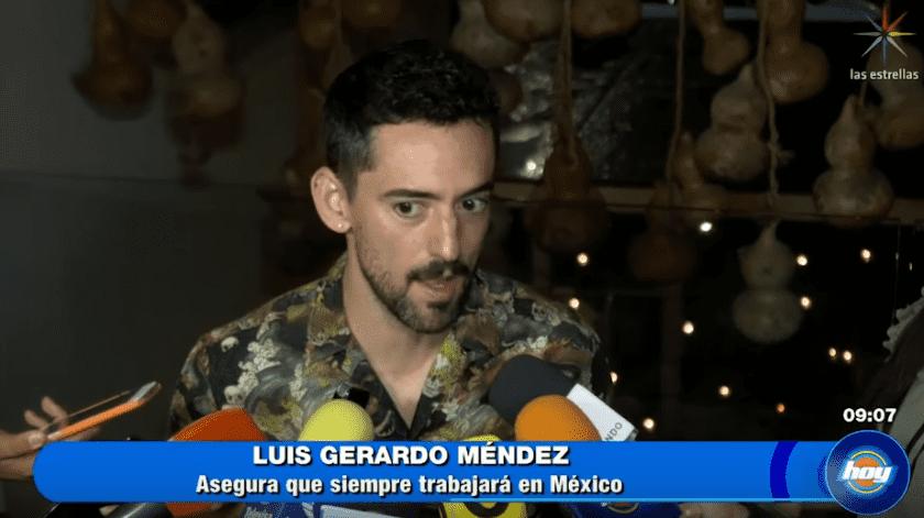 Luis Gerardo Méndez fuea la fiesta de nominados al Premio Ariel 2019.