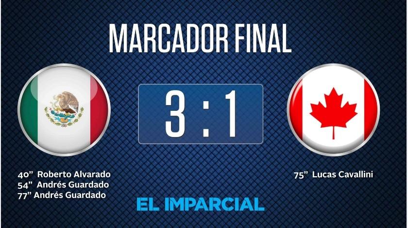 México supera 3-1 al equipo canadiense.(Imparcial)