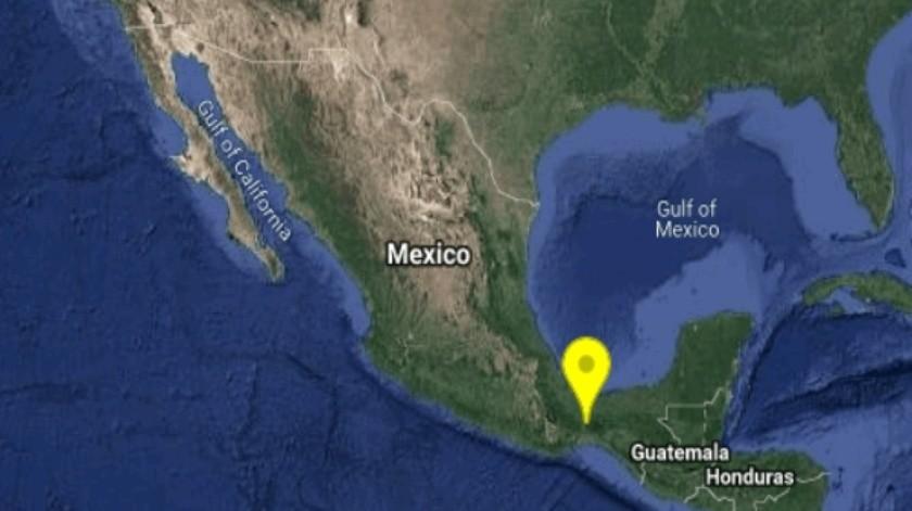 Su epicentro se localizó a 45 kilómetros al Noreste de Matías Romero.(Twitter)