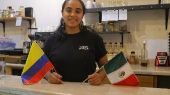 Lady Joana Gutiérrez Benjumea, de Medellín, Colombia, asegura vivir feliz en la ciudad.