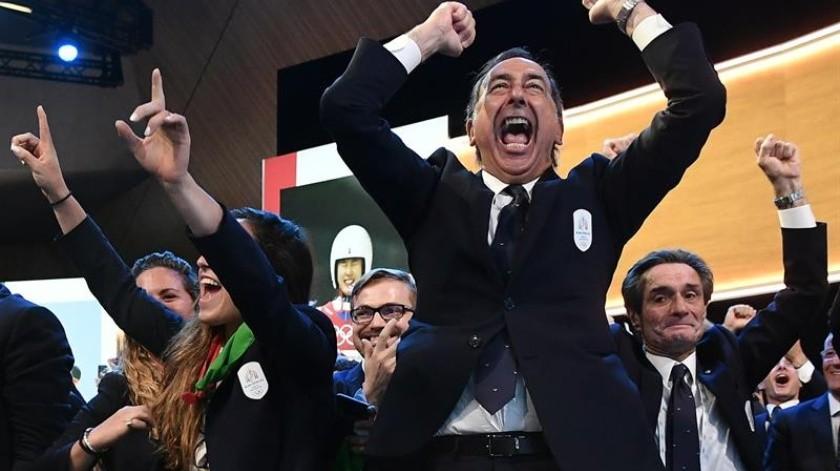 """Giuseppe Sala, alcalde de Milán, celebró este lunes la elección de su ciudad y de Cortina para organizar los Juegos Olímpicos de invierno de 2026 y aseguró que """"nada tiene el encanto"""" de esa competición.(EFE)"""