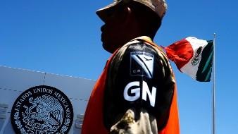 La Guardia Nacional inició sus actividades en el puesto de revisión militar ubicado en la carretera Mexicali - Tijuana.
