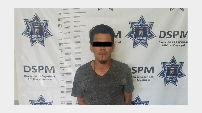 """Jesús """"N"""", de 39 años fue detenido por agentes de la Policía Municipal.(Cortesía)"""
