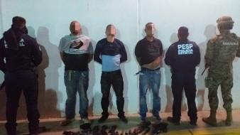 Marina detiene a hombres armados en carretera de Guaymas