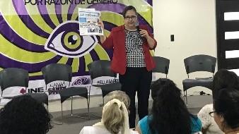 La activista señaló que un caso sea considerado como violencia política de género cuenta con cinco elementos: que se dirija a una candidata por su género, que el objetivo sea menospreciar con base a estereotipos, el contexto en el que se da la violencia, el tipo de violencia y que se tenga definido un agresor.