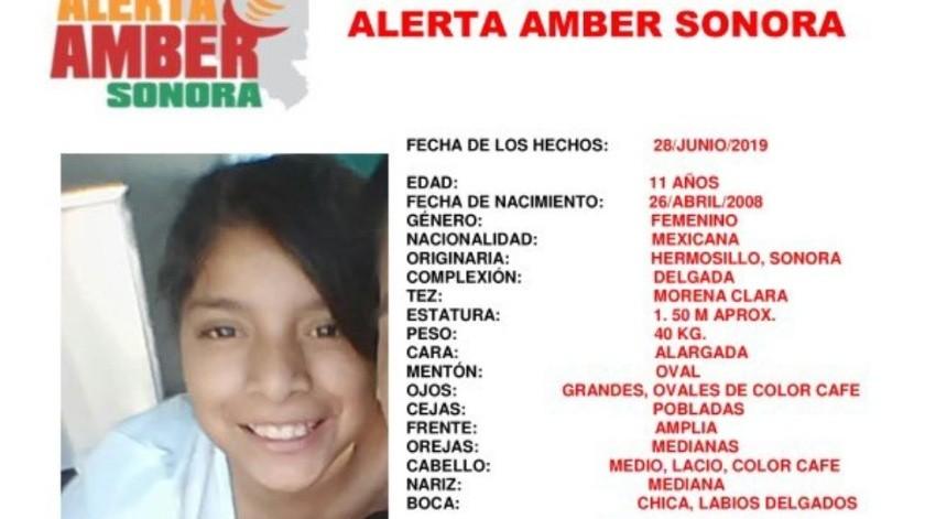 Reportan extravío de Dulce Elizama; activan Alerta Amber(Twitter/ @fgjesonora)