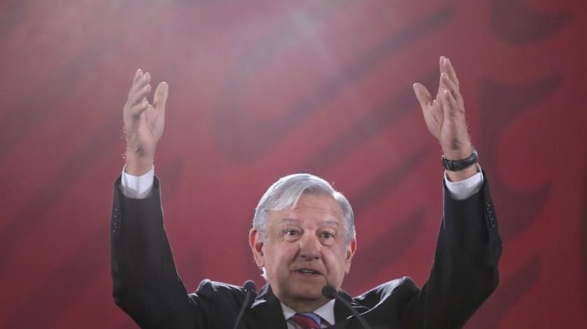 El 1 de julio, el mandatario realizará una 'fiesta' en el Zócalo para celebrar un año de su victoria.(EFE)