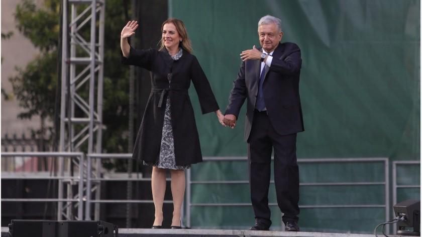 El Presidente de México ofreció un informe de los primeros meses de su gobierno a un año de su victoria en las elecciones.(EFE)